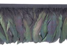 bronze coque feather fringe