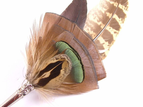 feather brooch