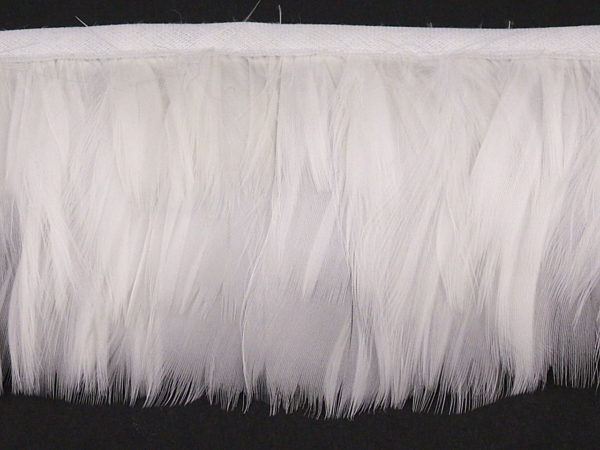 Goose Coquille Feather Fringe per metre